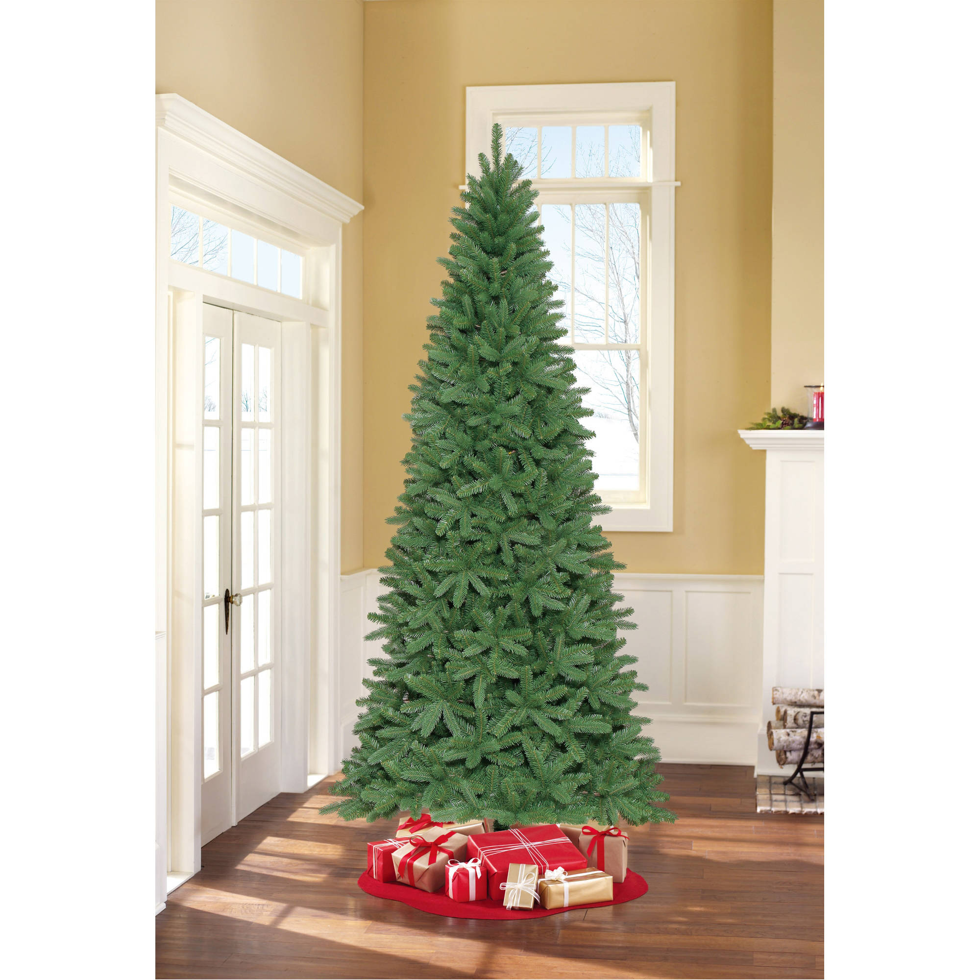 holiday time unlit 9 fremont fir artificial christmas tree walmartcom - Christmas Tree Walmart