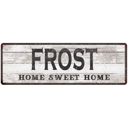 FROST Home Sweet Home Country Look Personalized 6x18 Metal Sig 106180045316