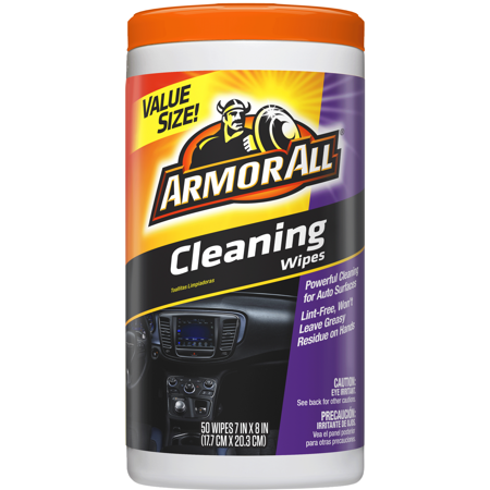 Armor All Cleaning Wipes, 50 Count, Car Cleaning, Auto