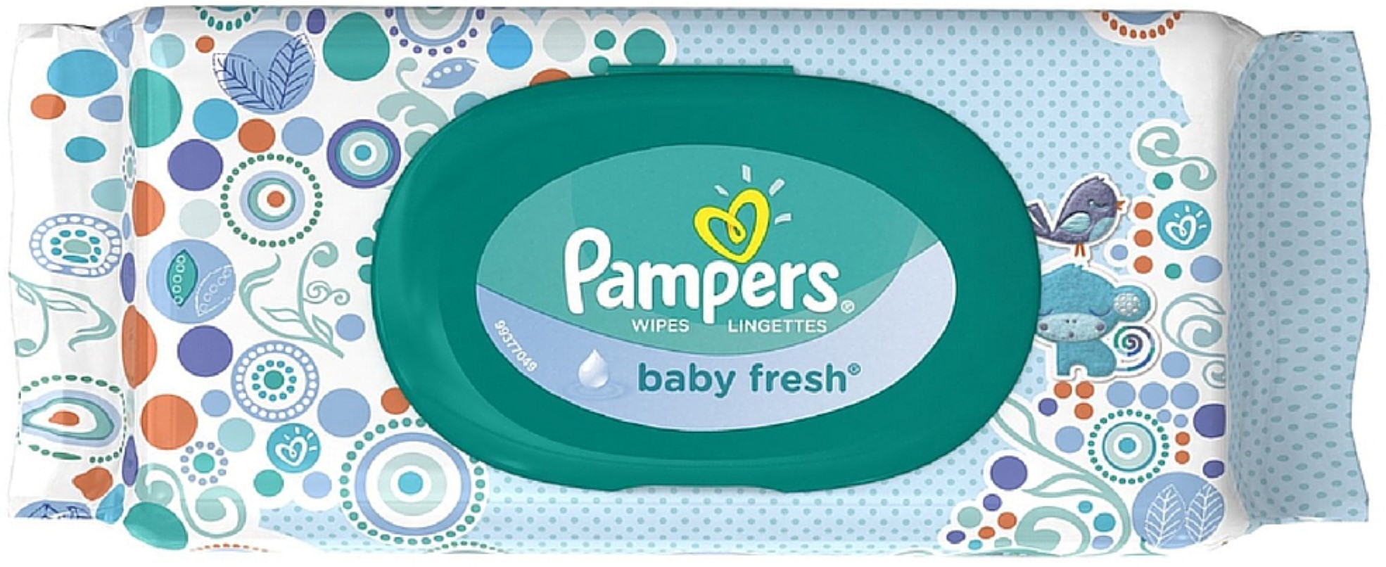 Pampers Baby Fresh Wipes Travel Pack 64 ea (Pack of 3)