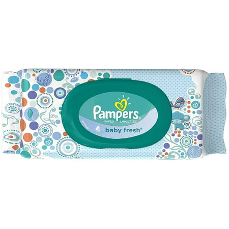 Pampers Baby Fresh Wipes Travel Pack 64 Ea Pack Of 3