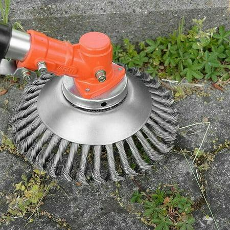 Solid Steel Wire Wheel Garden Weed Brush Lawn Mower Head Outdoor (Best Deals On Lawn Tractors)