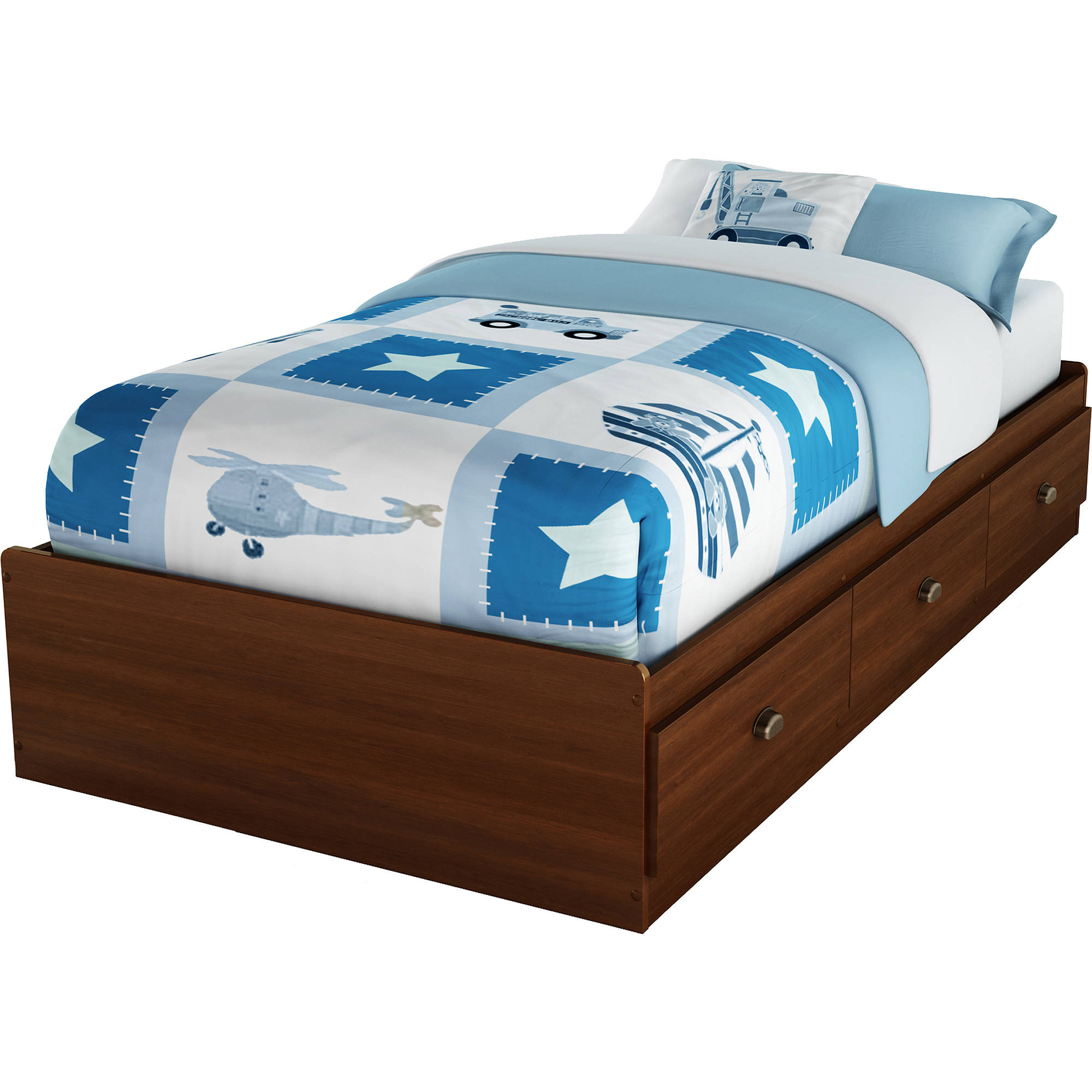 South Shore Willow 3-Drawer Storage Bed, Twin, Multiple Finishes