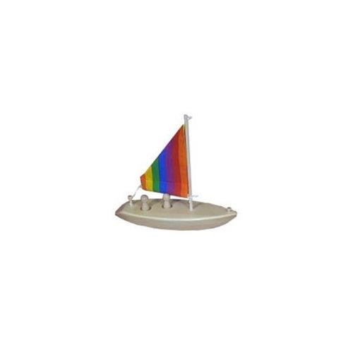 Wooden Toy Sailboat by