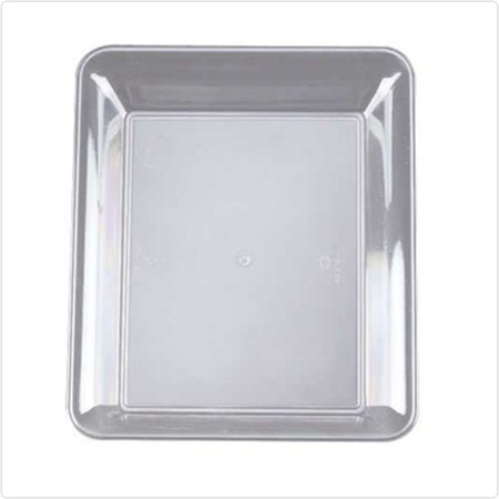 Clear 10 x 8 Plastic Rectangular Trays/Set of 25 - Clear Plastic Serving Trays