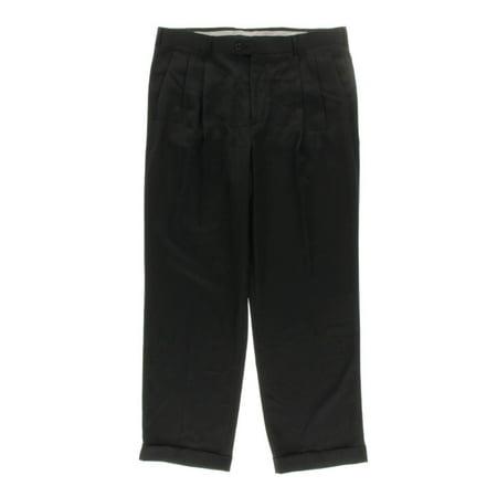 Perry Ellis Mens Classic Fit Cuffed Dress Pants