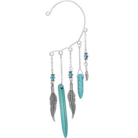 Blue Crystal Ear Cuff (Body Candy Handcrafted Brilliant Blue Southwestern Ear Cuff Wrap Created with Swarovski)