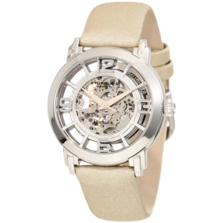 Stuhrling 156 121S2 Women's Winchester Automatic Skeleton Beige Leather Watch (Watches For Women Stuhrling)