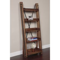 American Furniture Classics Industrial Collection Open Leaning Bookcase In Rough Sawn Finish