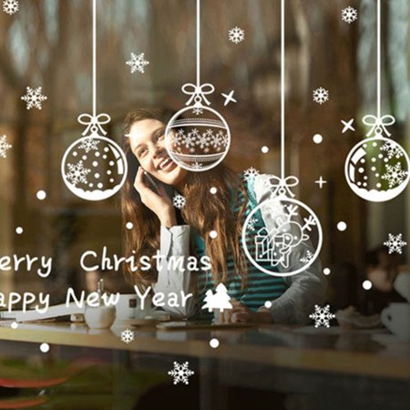 Moderna Merry Christmas Snowflake Removable Window Wall Stickers PVC Decal Xmas - Snowflake Window Decals
