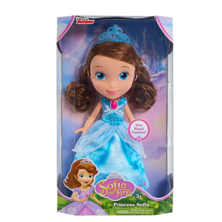"Disney Junior Sofia the First - Princess Sofia 10.5"" Doll w/ Crystal Blue Dress - Disney Princess Dress Size 14"