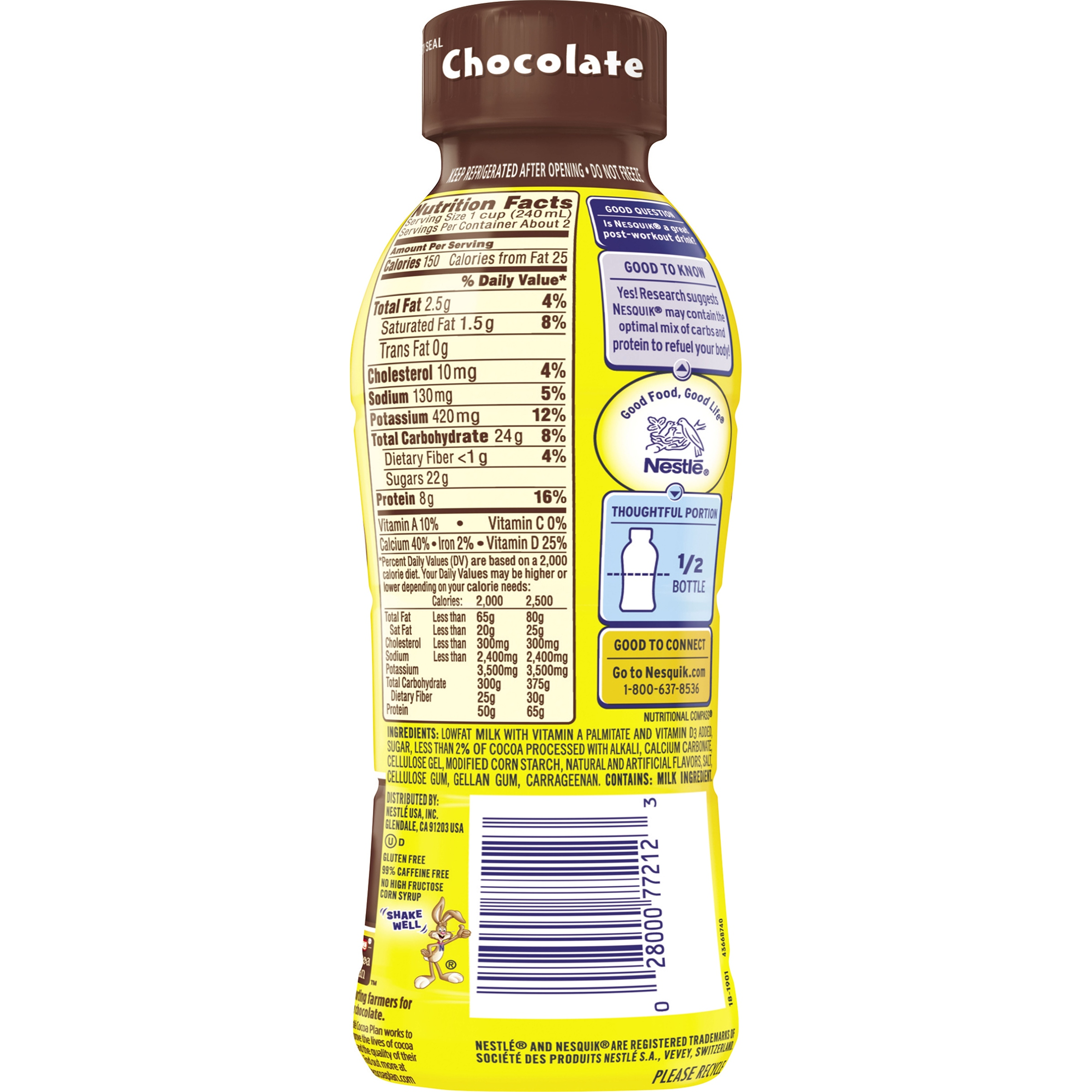 Nesquik chocolate milk nutrition facts
