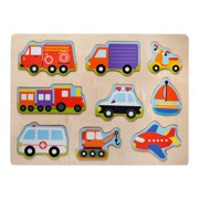 Eliiti Wooden Vehicles Puzzle for Toddlers 2 to 4 Years Old Boys