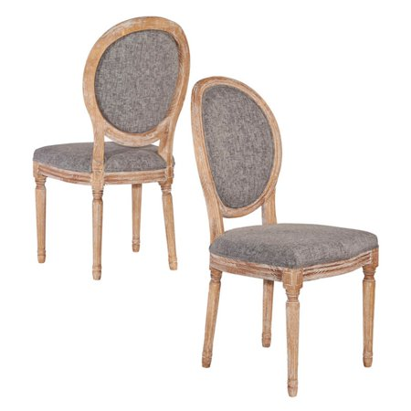 Linon Manchester Oval Back Chair, Set of 2, Assembled, Multiple (Oval Back Chairs)