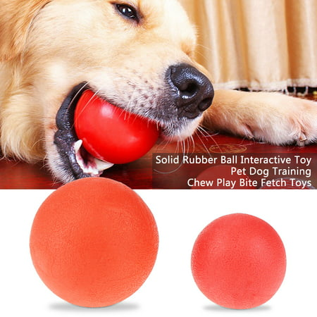 - WALFRONT Dog Ball Toy, Dog Training Ball,Solid Rubber Ball Interactive Toy Pet Dog Training Chew Play Bite Fetch Toys