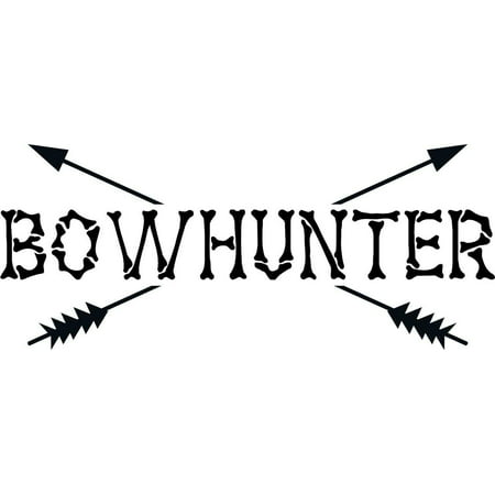 Custom Wall Decal Bow Hunter Graphic Boys Bow & Arrow Hunting - Hunter Hobby Sports - Vinyl Stickers - Cut Wall - Decoration Ideas 8x20