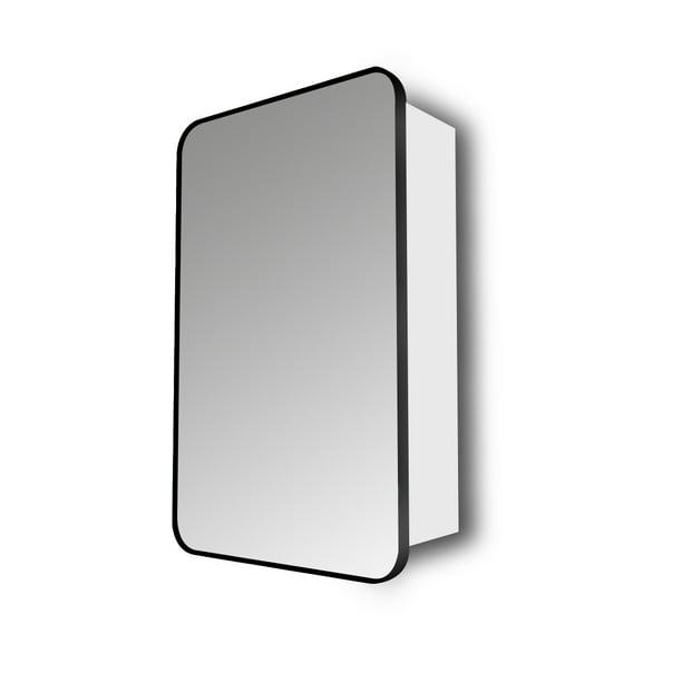 Better Homes Gardens Matte Black, Metal Framed Recessed Bathroom Medicine Cabinet With Mirror Black