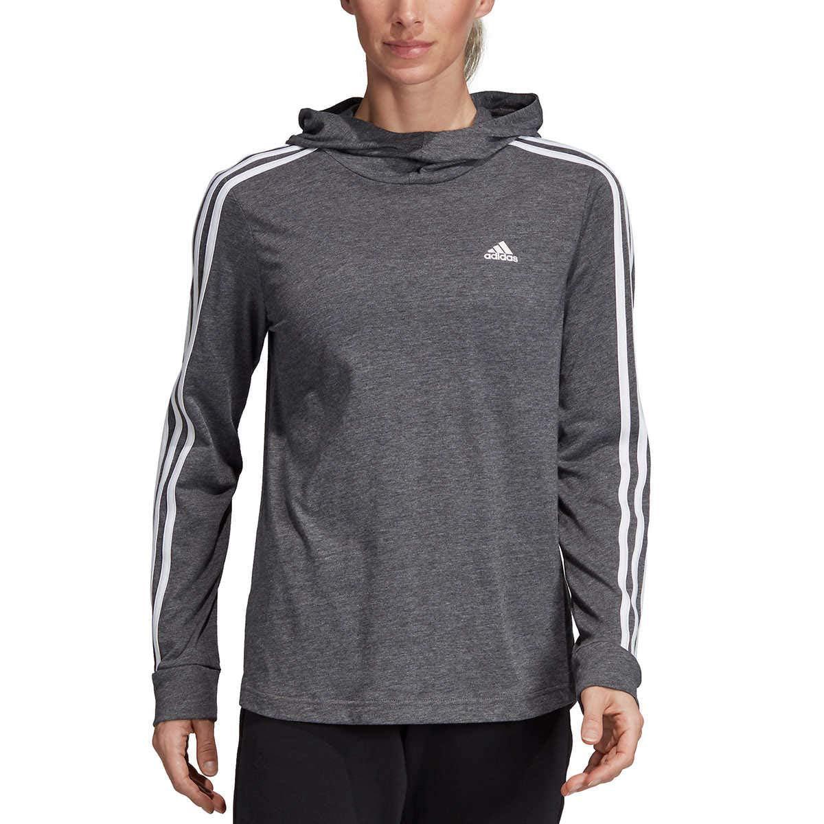 Adidas - adidas Women's Transition Lightweight Jersey Hoodie - S - Black Heather - Walmart.com