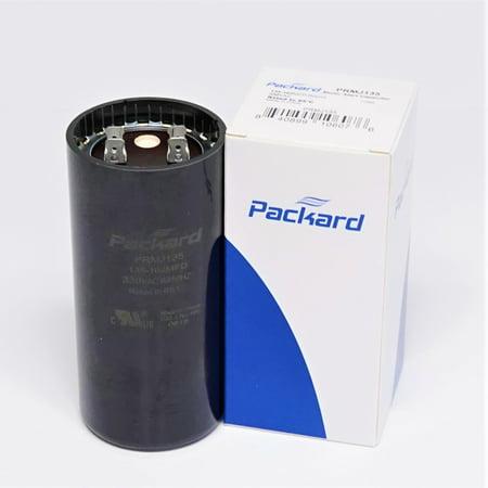 Packard PRMJ135 Motor Start Capacitor. 135-162 MFD UF / 330 VAC Mfd 165v Motor Start Capacitor
