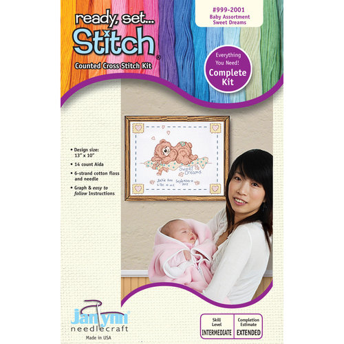 Janlynn 13x10 Sweet Dreams Cross-Stitch Kit