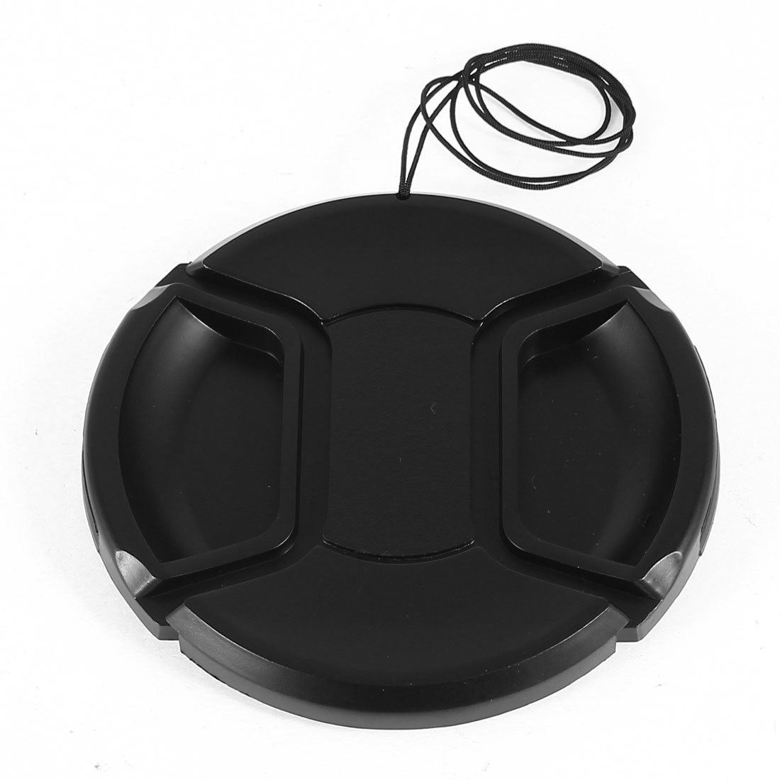 Unique Bargains Plastic 77mm Center Pinch Lens Cap Cover w Strap Leash for DLSR Digital Camera