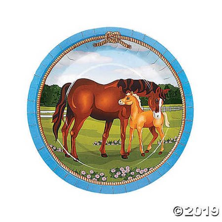 Horse Party Paper Dinner - Horse Paper Plates