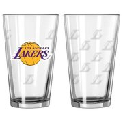 Los Angeles Lakers Satin Etch Pint Glass Set