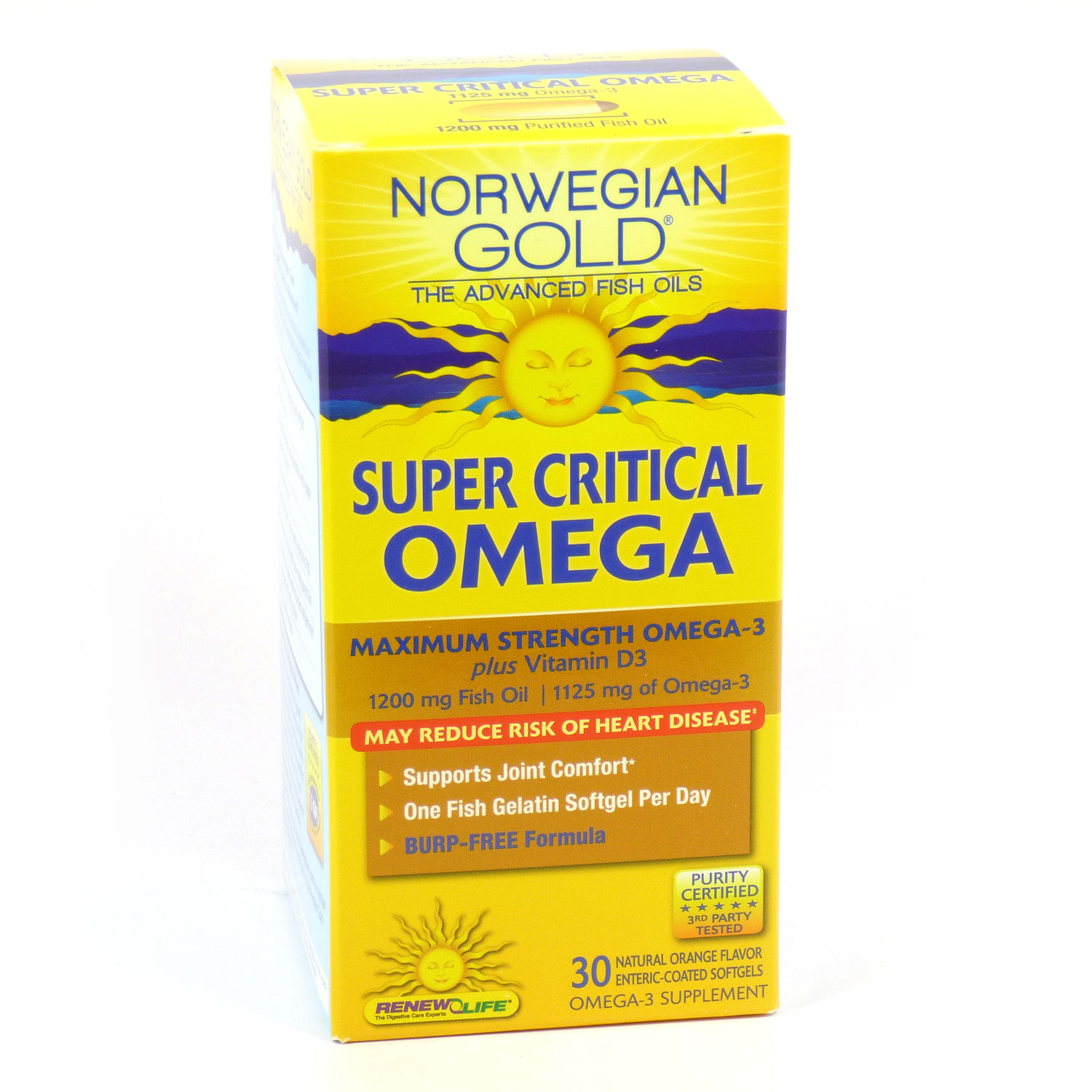 Super Critical Omega Norwegian Gold 1200mg By Renew Life - 30 Count