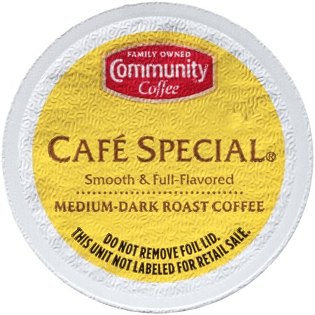 Community® Coffee Café Special® Medium-Dark Roast Coffee Single-Serve Cups 18 ct Box Compatible with Keurig 2.0 K-Cup Brewers