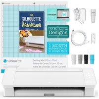 Silhouette White Cameo 4 w/ Updated Autoblade, 3x Speed, Roll Feeder