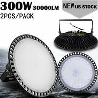 2pcs Ultraslim 300W UFO LED High Bay Light Factory Industrial Warehouse Commercial lighting