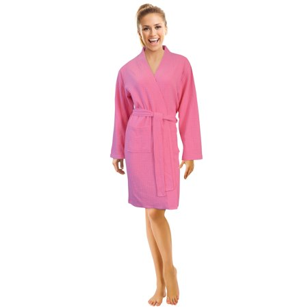 5c22390c68 Napa - Napa Women s Waffle Spa Robe Lightweight Kimono Bathrobe Soft Hotel  Sleepwear - Walmart.com