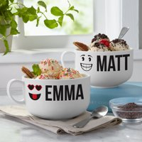 Personalized Create Your Own Couples Ice Cream Bowl Set