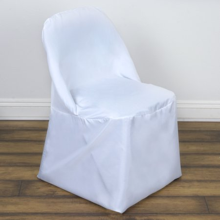 Balsacircle Folding Round Polyester Chair Covers