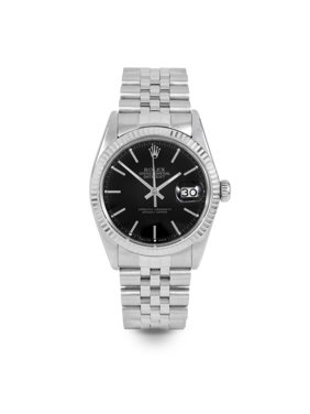 Pre Owned Rolex Datejust 16014 w/ Black Stick Dial 36mm Men's Watch (Certified Authentic & Warranty Included)
