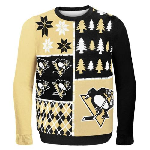 Pittsburgh Penguins NHL Busy Block Ugly Sweater Medium
