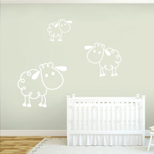 Sweetums Sheep Wall Decals (Set of 3)