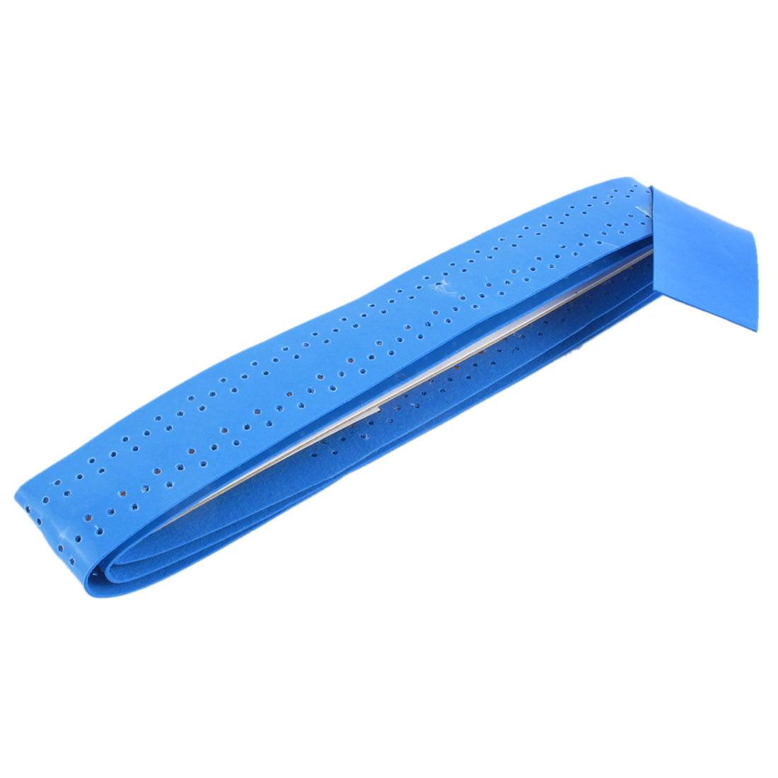 Unique Bargains 110cm Long Sweat Absorbing Soft Foam Grip Tape Blue for Squash Badminton Tennis Racket