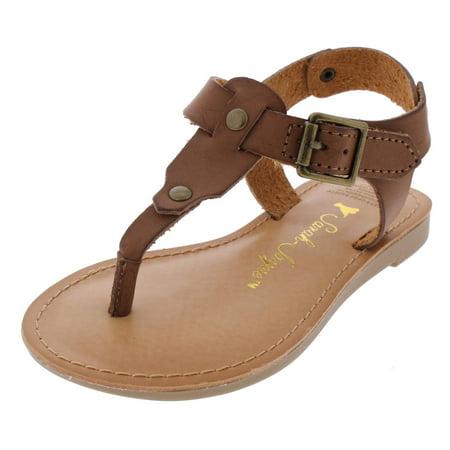 - Girls Jamie T T-Strap Slingback Flat Sandals