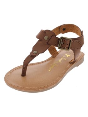 ca6c5146a Product Image Girls Jamie T T-Strap Slingback Flat Sandals