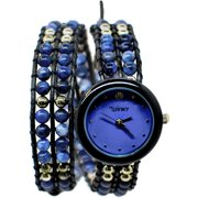 Winky Designs Double Wrap Watch, Blue Cosmo
