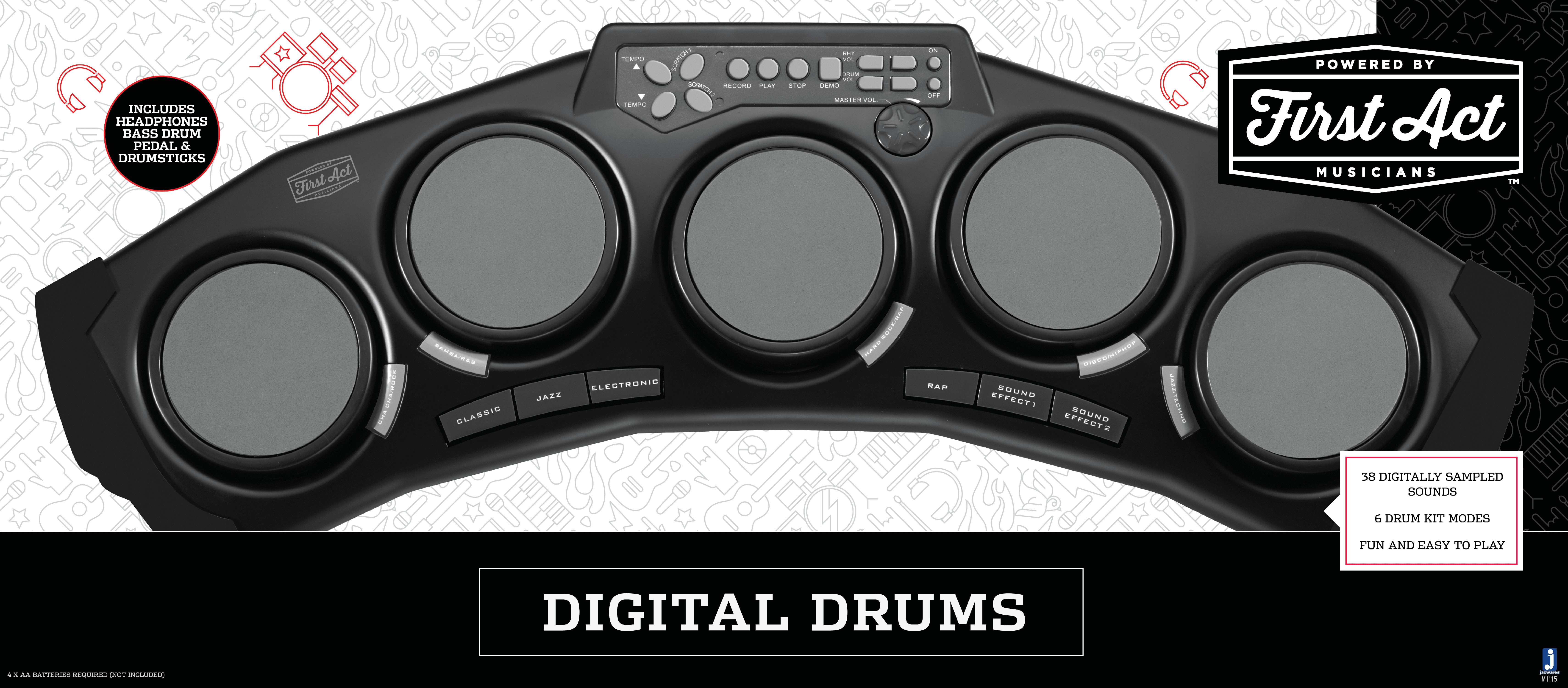 First Act Digital Drums by Jazwares, LLC.