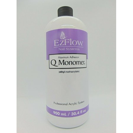 EzFlow Q Monomer Acrylic Nail Liquid 30.4 oz (66071) (Yellow Acrylic Nails)