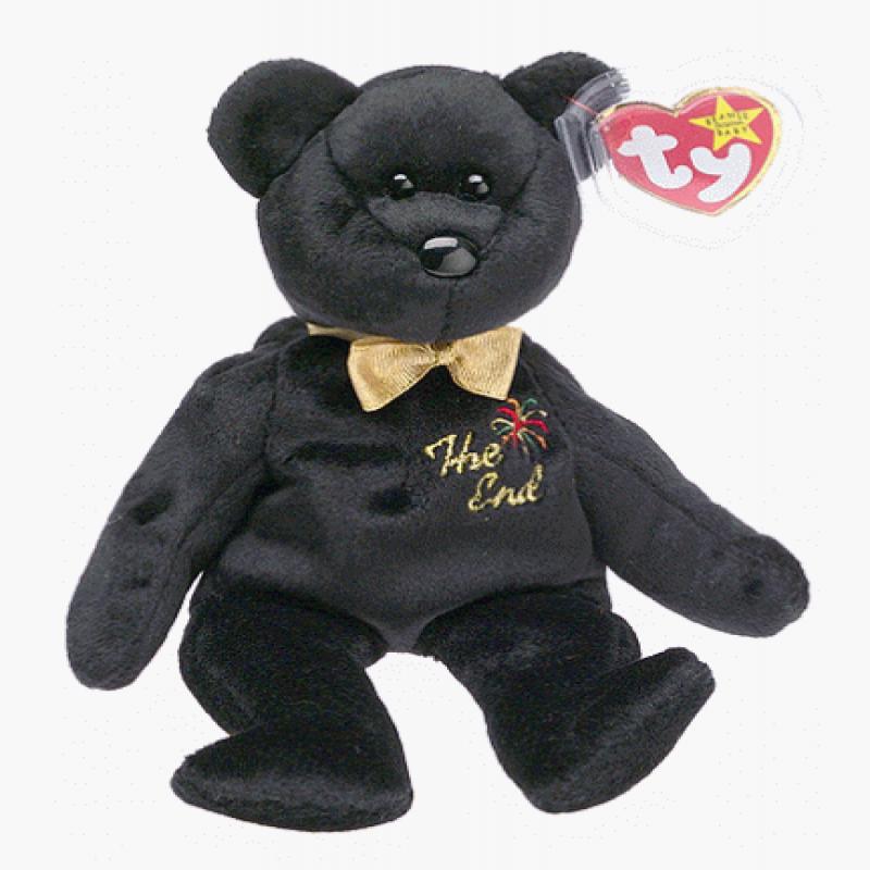 Ty Beanie Babies The End Black Teddy Bear by TY Inc