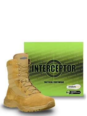 Interceptor Men's Frontier Tactical Work Boots, Coyote Brown