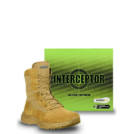 Interceptor Men's Frontier Tactical Work Boots, Coyote (Best Urban Tactical Boots)