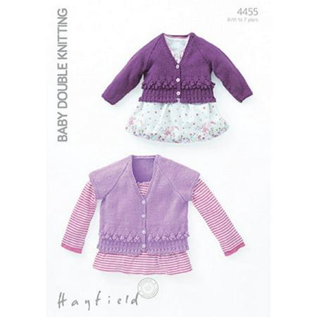 Sirdar Hayfield Baby DK Cardigans Knitting Pattern 4455 (Sirdar Click Chunky)