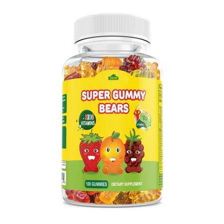 Image of Alfa Vitamins Kids Complete Daily Gummy Vitamins: Multivitamin & Vitamin C, B12 , D3, Iodine Supplement, Non-GMO, 100 count (100 Day Supply)