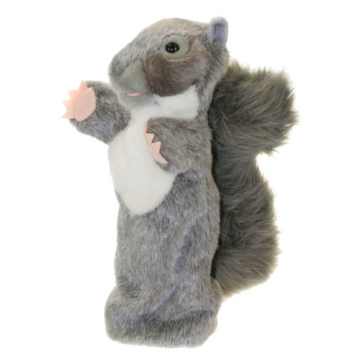 The Puppet Company Long-Sleeved Squirrel Glove Puppet in Grey