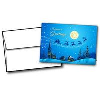 Christmas Night Holiday Cards - 20 Greeting Card Sets
